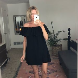 French Connection off shoulder baby doll dress M
